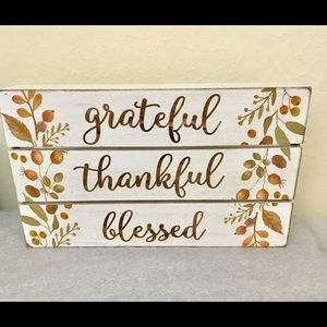 """Grateful, Thankful, Blessed"" Fall Decor"
